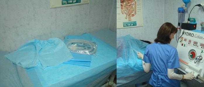 кушетка для гидроколонотерапии