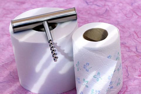 штопор на туалетной бумаге