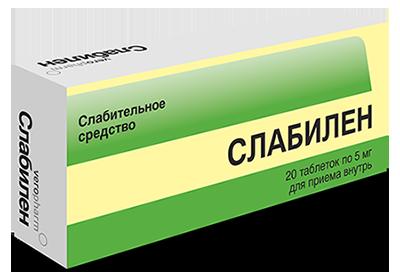 слабилен таблетки 5 мг